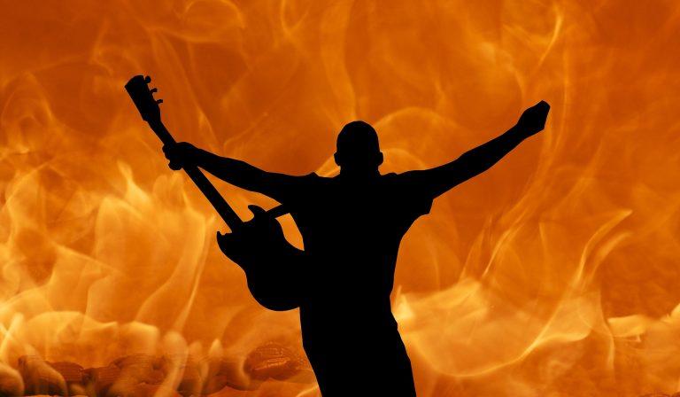 GitarrenspielerSilhouette