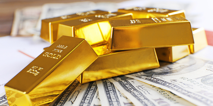 Gold mit Geldscheinen_1280