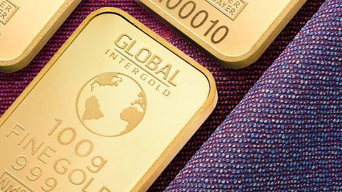 Goldbarren CloseUp