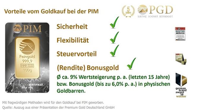 PIM Gold Werbebanner